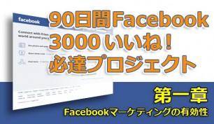 90日間 Facebook 3000 いいね! 必達プロジェクト【第一章:Facebookマーケティングの有効性】