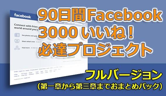 90日間 Facebook 3000 いいね! 必達プロジェクト【フルバージョン】